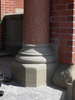 Sandstone column base (Fredericton City Hall, NB)