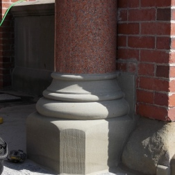 Sandstone column base (Fredericton City Hall, NB)