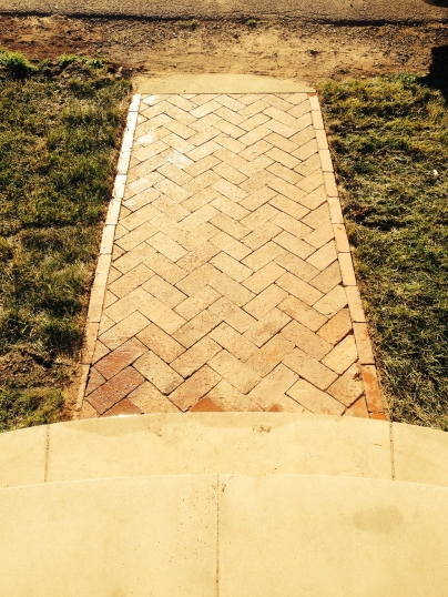 Rebuilt herringbone path